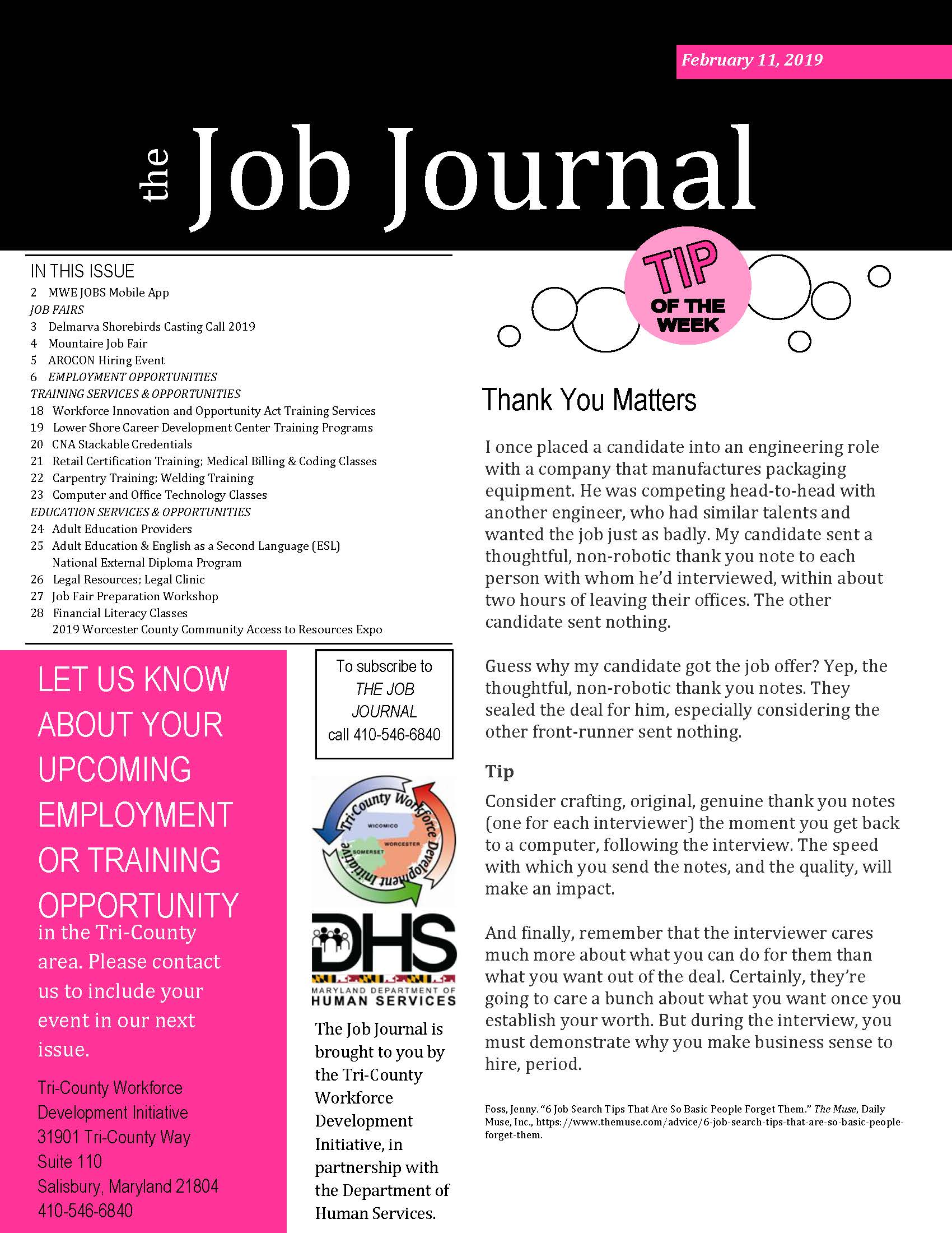 The Job Journal Feb. 11, 2019