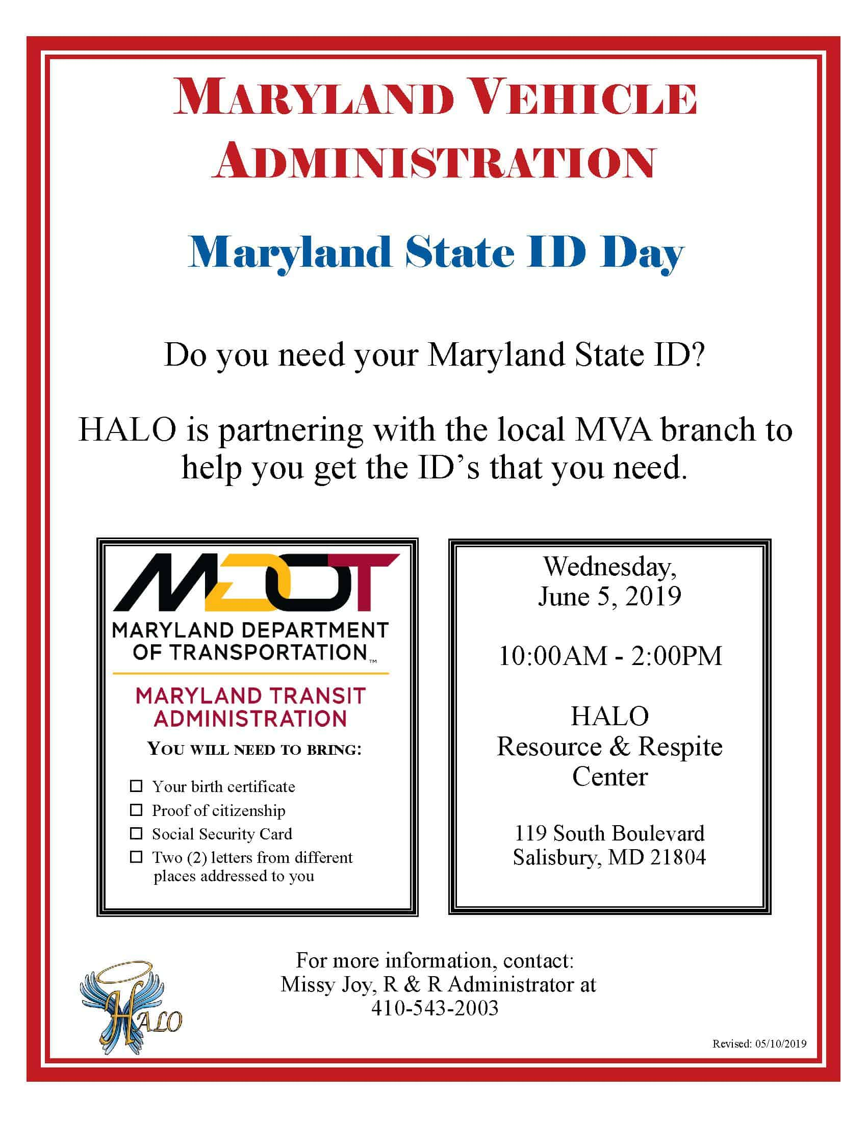MVA MD State ID Day Flyer