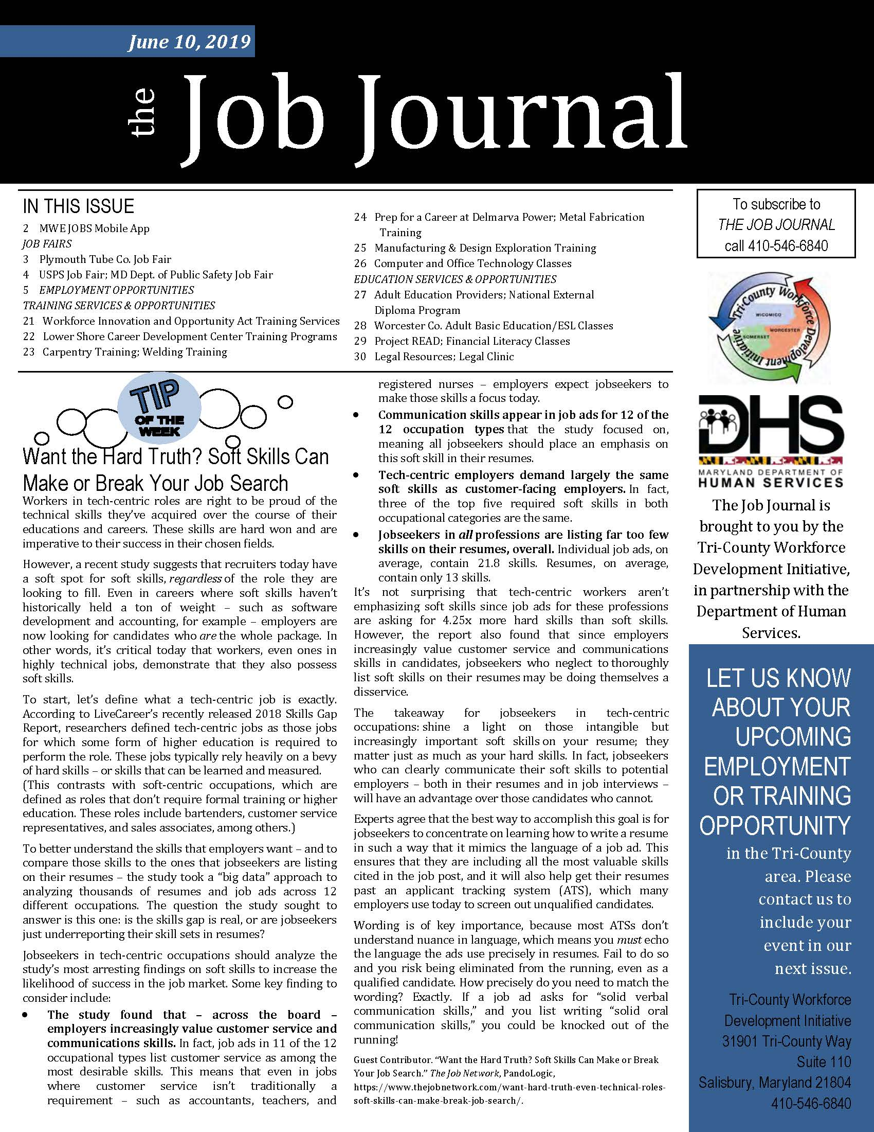 Surprising The Job Journal June 10 2019 American Job Center Download Free Architecture Designs Scobabritishbridgeorg