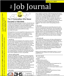 Job Journal 8/12/19